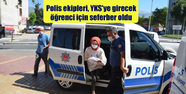 Polis ekipleri, YKS'ye girecek  öğrenci için seferber oldu