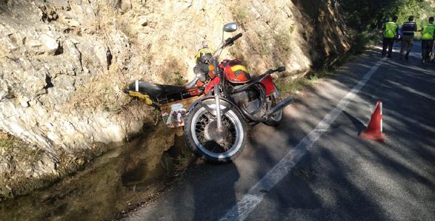 Kahramanmaraş'ta motosiklet devrildi