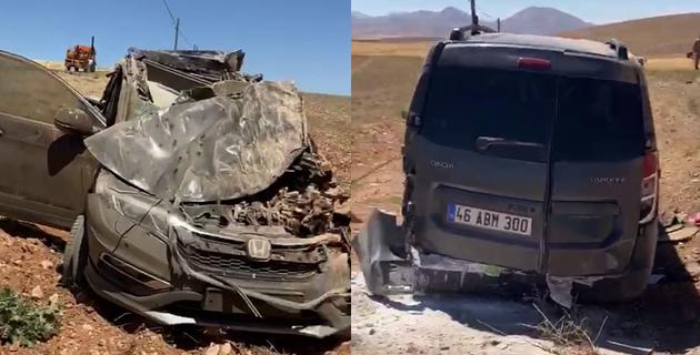 Kahramanmaraş'ta trafik kazası 4 yaralı