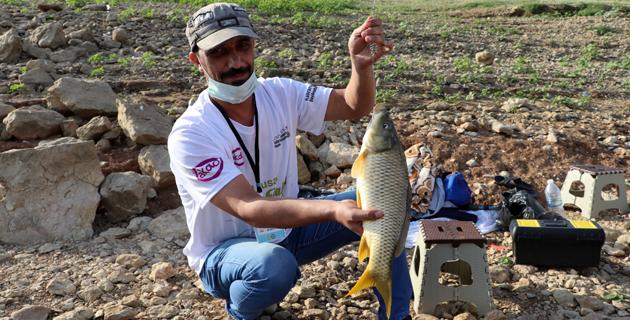"""Kahramanmaraş'ta """"1. Ulusal Sazan Balığı Yakalama Yarışması"""""""