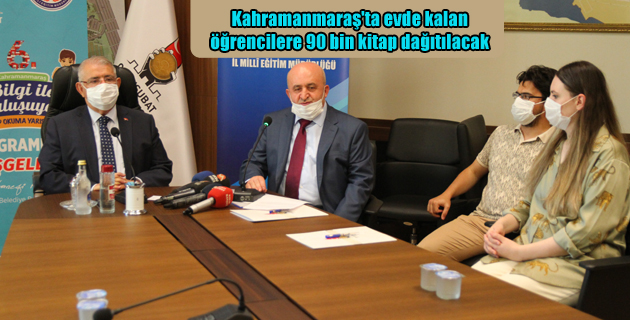Kahramanmaraş'ta evde kalan öğrencilere 90 bin kitap dağıtılacak