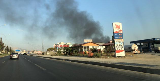 Kahramanmaraş'ta fabrikada yangın
