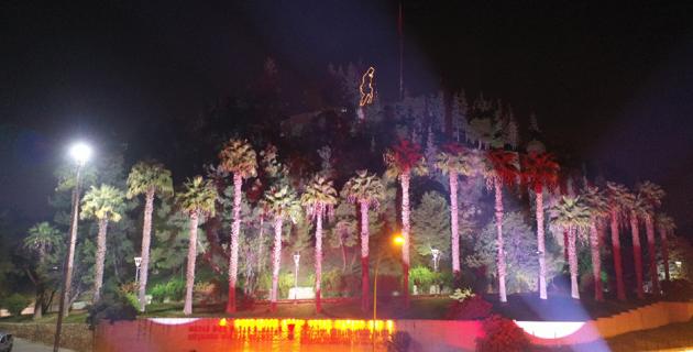 Kahramanmaraş kalesinde ışıklı gösteri
