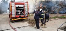 Kahramanmaraş'ta bir çiftlikte yangın çıktı