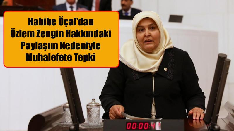 Habibe Öçal'dan Özlem Zengin Hakkındaki Paylaşım Nedeniyle Muhalefete Tepki