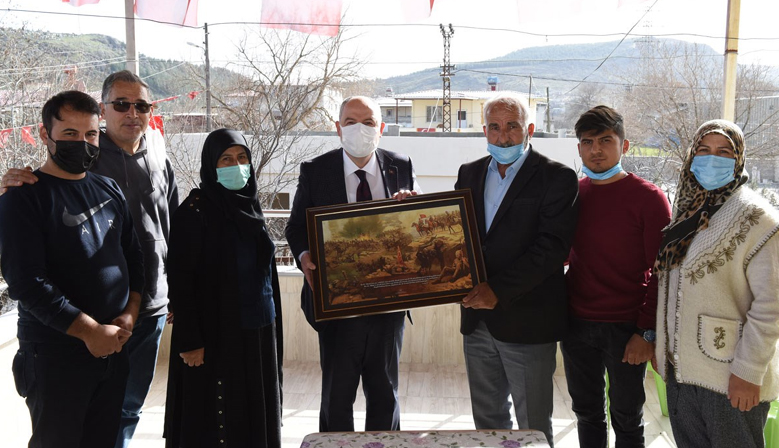 Vali Coşkun'dan Şehit Ailelerine ve Gazilere Ziyaret