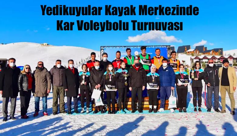 Yedikuyular Kayak Merkezinde Kar Voleybolu Turnuvası