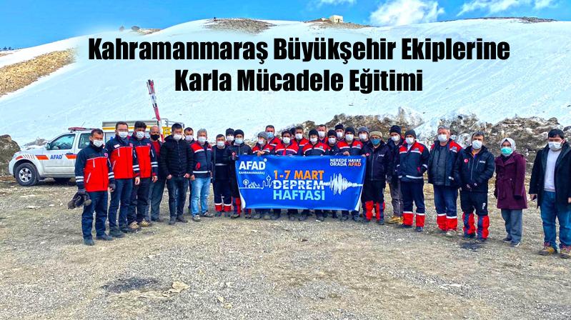 Kahramanmaraş Büyükşehir Ekiplerine Karla Mücadele Eğitimi