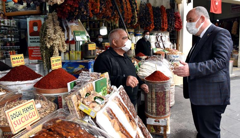 Vali Coşkun'dan Tarihi Kapalı Çarşı Esnaflarına Ziyaret