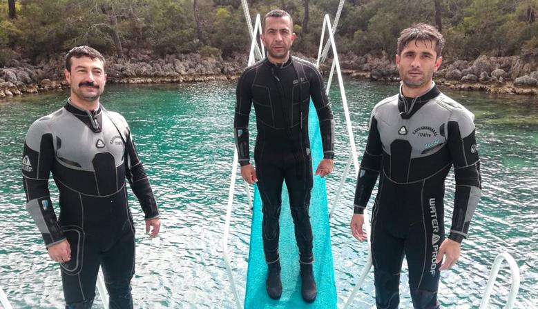 İtfaiye'den Balıkadamlara Sıkı Eğitim