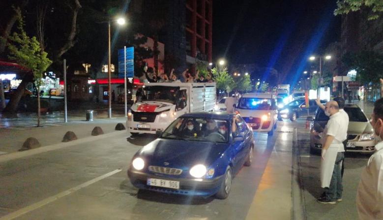 KAHRAMANMARAŞ'TA FİLİSTİN'E DESTEK KONVOYU
