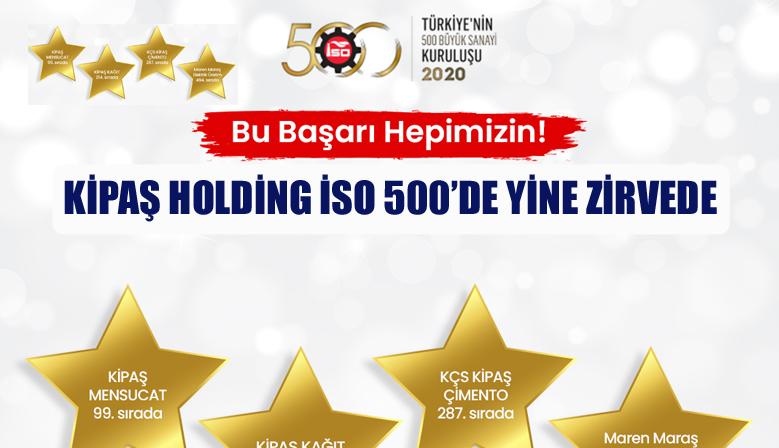 KİPAŞ HOLDİNG İSO 500'DE YİNE ZİRVEDE