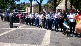Kahramanmaraş'ta Filistinli şehitler için gıyabi cenaze namazı kılındı
