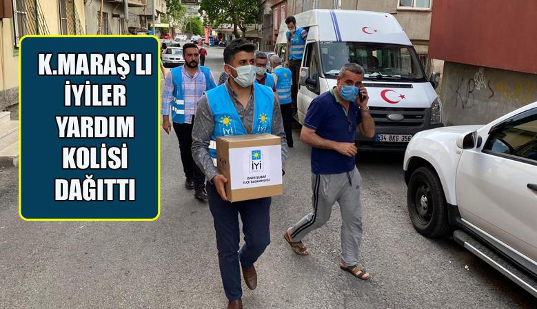 Kahramanmaraş'ta İYİ Parti Teşkilatı Yardım Kolisi Dağıttı