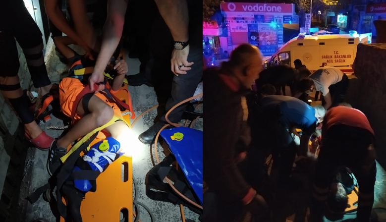 Kahramanmaraş'ta İnşaat boşluğuna düşen çocuk kurtarıldı