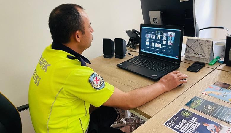 Kahramanmaraş'ta online trafik eğitimi