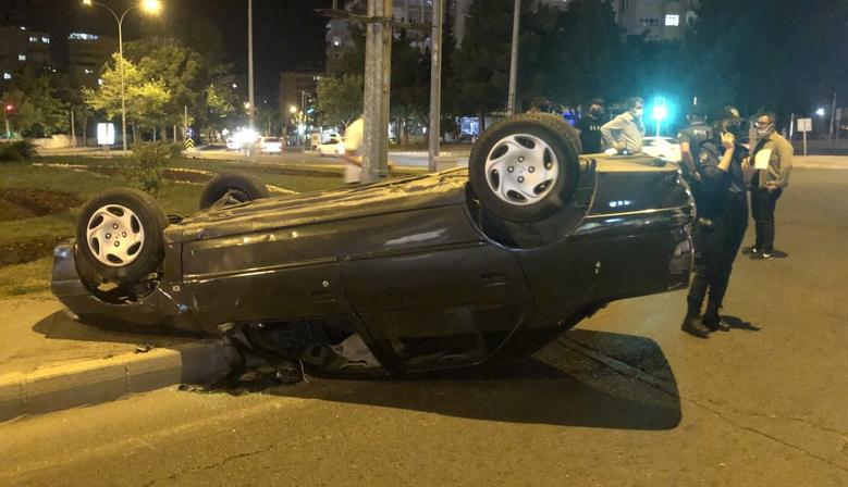 Kahramanmaraş'ta otomobil takla attı