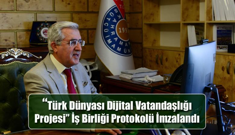 """""""Türk Dünyası Dijital Vatandaşlığı Projesi"""" İş Birliği Protokolü İmzalandı"""
