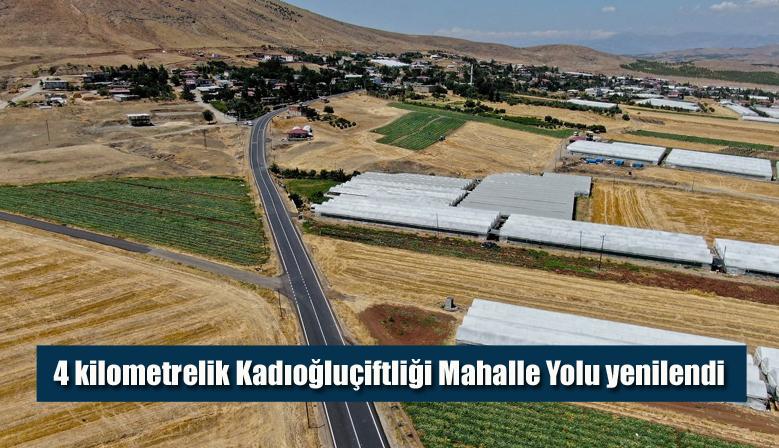 4 kilometrelik Kadıoğluçiftliği Mahalle Yolu yenilendi