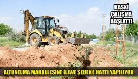 ALTUNELMA MAHALLESİNE İLAVE ŞEBEKE HATTI