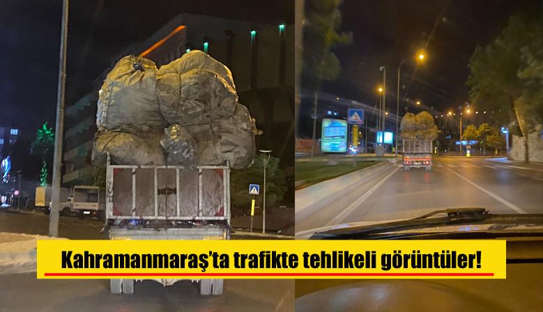 Kahramanmaraş'ta trafikte tehlikeli görüntüler!