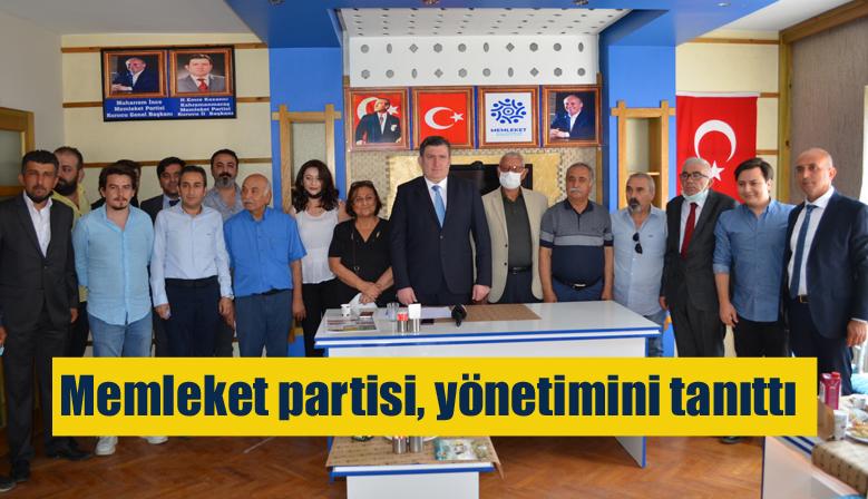 Memleket partisi, Kahramanmaraş yönetimini tanıttı