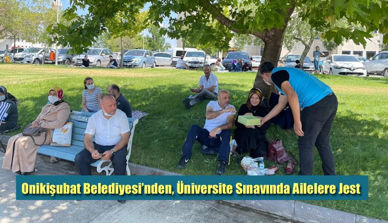 Onikişubat Belediyesi'nden, Üniversite Sınavında Ailelere Jest