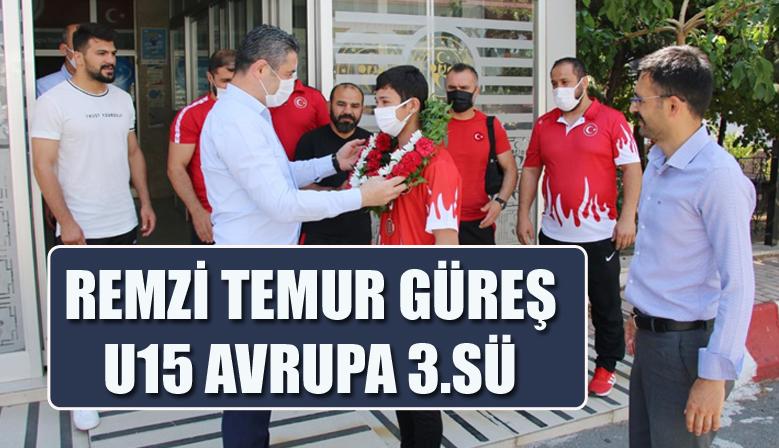 REMZİ TEMUR GÜREŞ U15 AVRUPA 3.SÜ