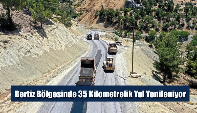 Bertiz Bölgesinde 35 Kilometrelik Yol Yenileniyor
