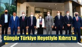 Güngör Türkiye Heyetiyle Kıbrıs'ta