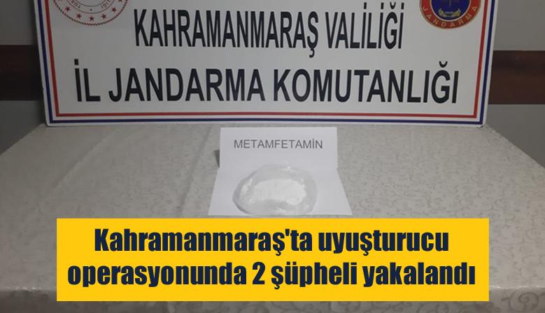 Kahramanmaraş'ta uyuşturucu operasyonunda 2 şüpheli yakalandı