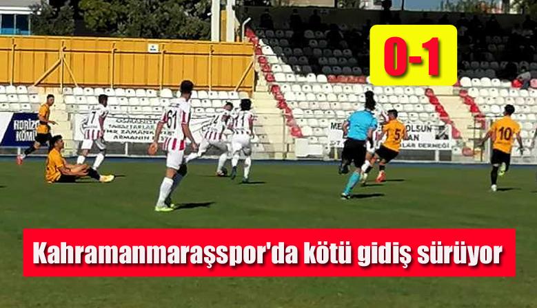 Kahramanmaraşspor'da kötü gidiş sürüyor