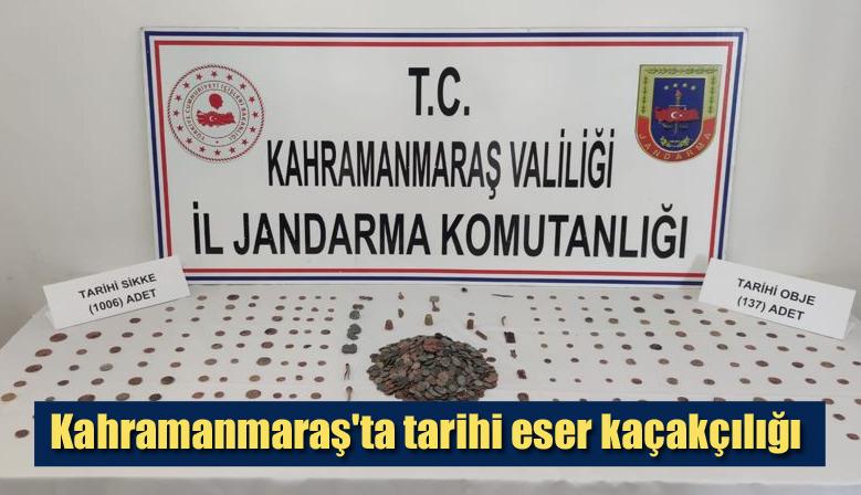 Kahramanmaraş'ta tarihi eser kaçakçılığı