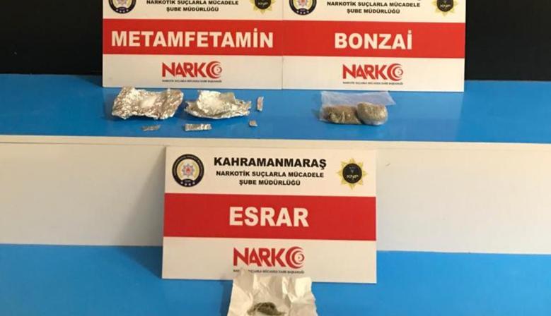 Kahramanmaraş'ta uyuşturucu operasyonunda 3 zanlı tutuklandı
