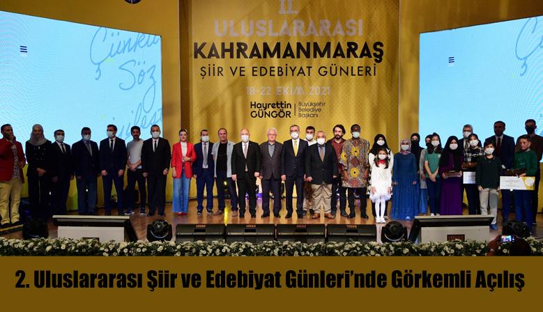 2. Uluslararası Şiir ve Edebiyat Günleri'nde Görkemli Açılış