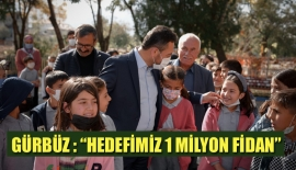 """BAŞKAN GÜRBÜZ : """"HEDEFİMİZ 1 MİLYON FİDAN"""""""