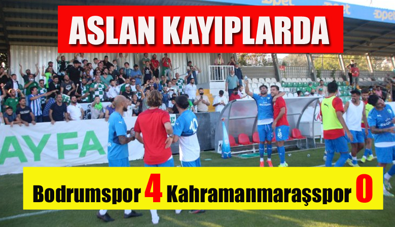 Bodrumspor 4 Kahramanmaraşspor 0