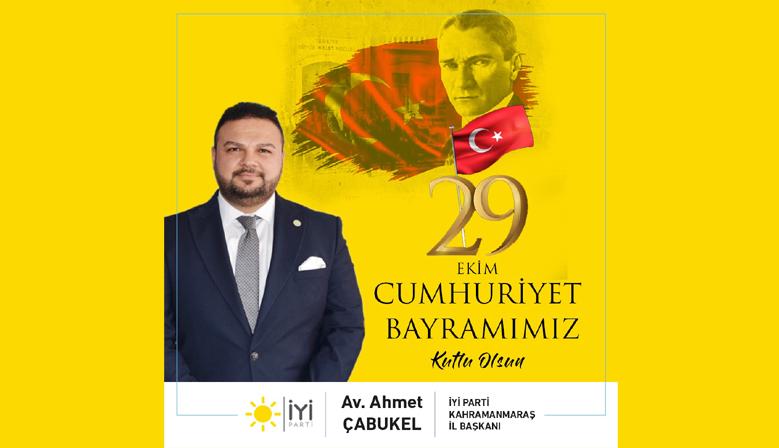 Başkan Çabukel'in Cumhuriyet Bayramı Mesajı