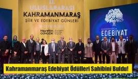 Kahramanmaraş Edebiyat Ödülleri Sahibini Buldu!