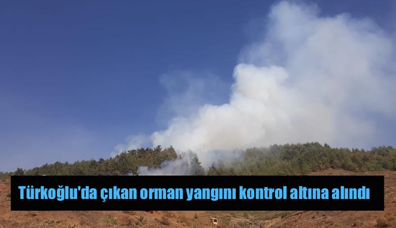 Türkoğlu'da çıkan orman yangını kontrol altına alındı